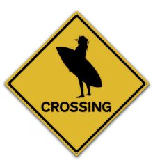 Surfer Chick Crossing
