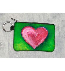 Spring Heart Keychain Wallet