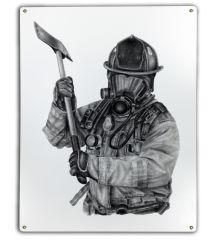 Black & White Firefighter Axe