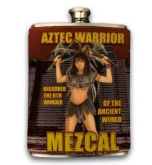 Aztec Mezcal 8oz Faux-Leather Wrapped Flask