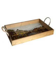 Indian Summer 12X18 Wood Serving Tray