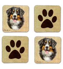 Bernese Mountain Dog Felt Coasters