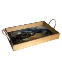 Head-On 12X18 Wood Serving Tray