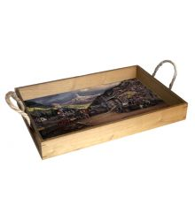 Nuggetville 1920 12X18 Wood Serving Tray
