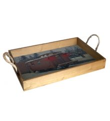 Guiding Light 12X18 Wood Serving Tray