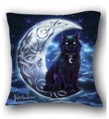 Celtic Black Cat Pillow