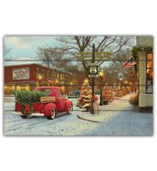 Christmas 12x18 Planked Wood Sign