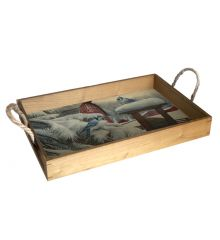 Blue Jays 12X18 Wood Serving Tray