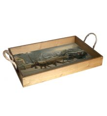 Heavenly Night 12X18 Wood Serving Tray