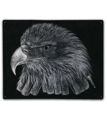 Black & White Firefighter Eagle