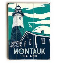 Montauk Lighthouse 9x12 Birch Wood Print