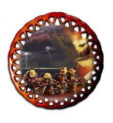 Guardians Round Lace Ornament