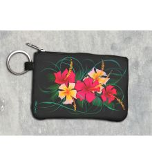Hibiscus Keychain Wallet