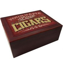 Fine Cigars Red Wood Humidor