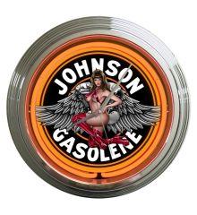Johnson Gas Neon Clock (Orange)
