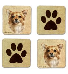 Long Haired Chihuahua II  Felt Coasters