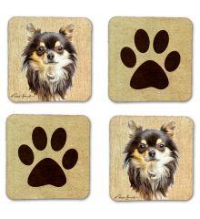 Long-Haired Chihuahua Felt Coasters