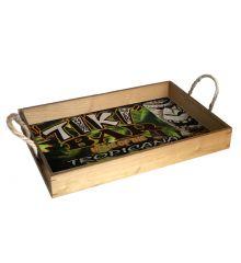 Tiki Bar 12x18 Wood Serving Tray