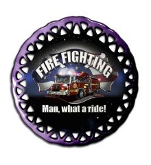 Man, What a Ride! Round Lace Ornament