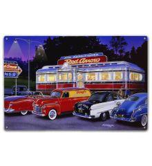 Red Arrow Diner w/ Flag