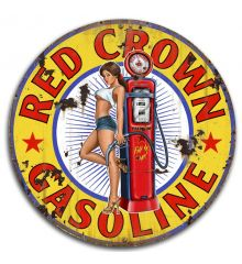 Red Crown Gas Vintage