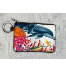 Sea of Color Horizontal Keychain Wallet
