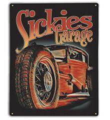Sickies Garage 12X15 Classic Metal Sign