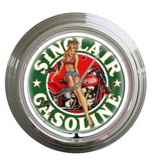 Sinclair Gas Vintage Neon Clock (White)