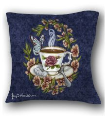 Tea and Company Pillow