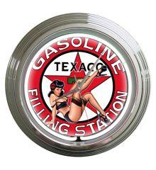 Texaco Gas Neon Clock (White)