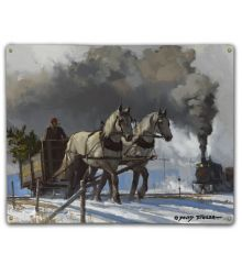 Thunder of the Iron Horse  12X15 Classic Metal Sign