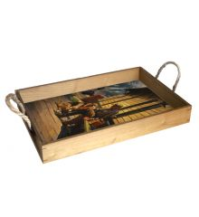 Old Friends 12X18 Wood Serving Tray