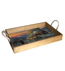 Keeping Pace 12X18 Wood Serving Tray