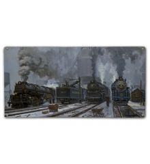 Twilight of Steam 12X24 Classic Metal Sign