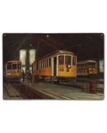 Into the Light  12X18 Classic Metal Sign