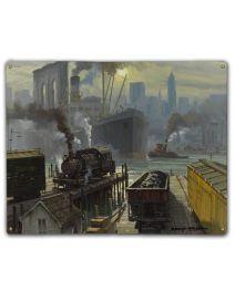 New York Railway Dock 12X15 Classic Metal Sign