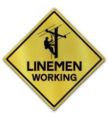 Caution-Linemen Working
