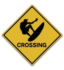 Surfer Crossing