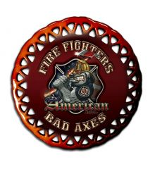 American Bad Axes Round Lace Ornament
