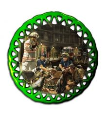 Animal Rescue, Canine Round Lace Ornament