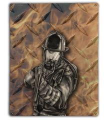 Diamond Plate Firefighter