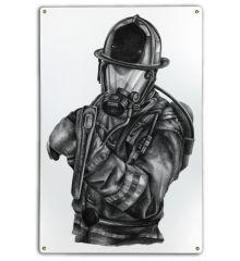 Black & White Firefighter