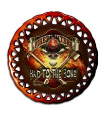 Bad to the Bone Round Lace Ornament