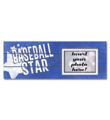 Baseball Star Sentimental Photo Frame