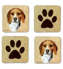 Beagle Felt Coasters
