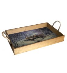Snowbound Special 12X18 Wood Serving Tray