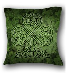 Celtic Shamrock Pillow