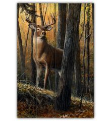 Autumn Monarch 12x18 Planked Wood Sign