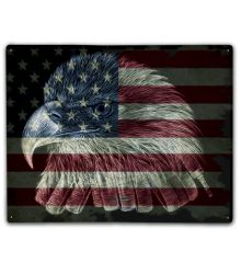 American Flag Firefighter Eagle