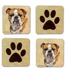 English Bulldog Felt Coasters